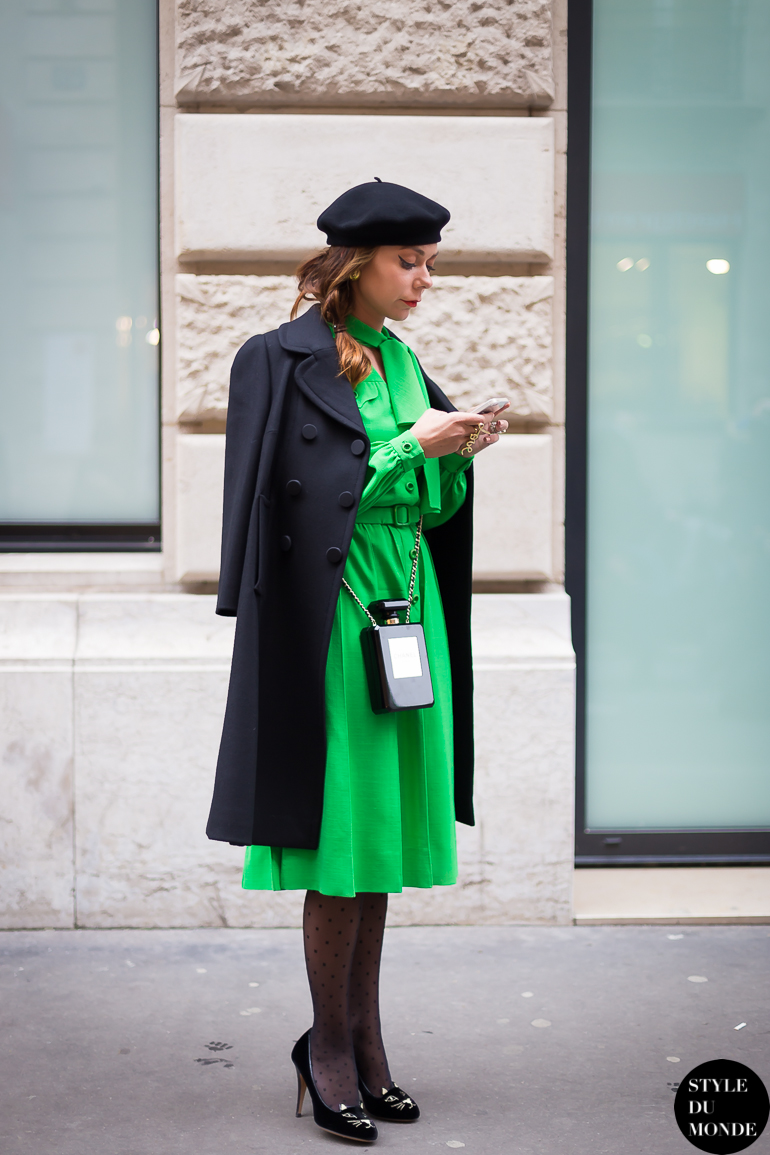 Pierre Balmain Vintage Green Dress Style Du Monde Street Style Street Fashion Photos
