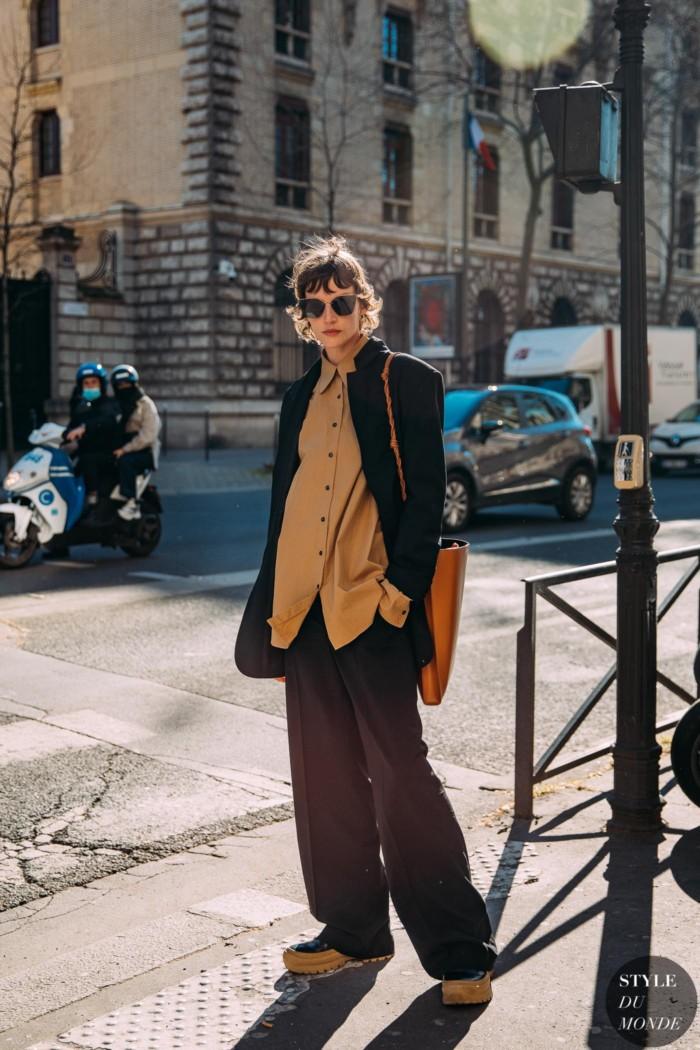 Paris Fall 2021 Street Style: Sara Blomqvist